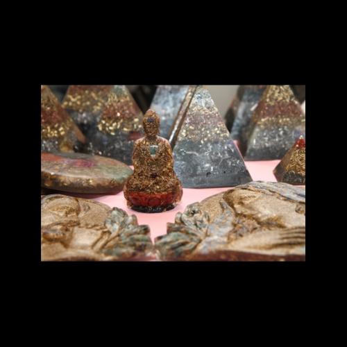 Orgonitový čakrový Budha veľ. S