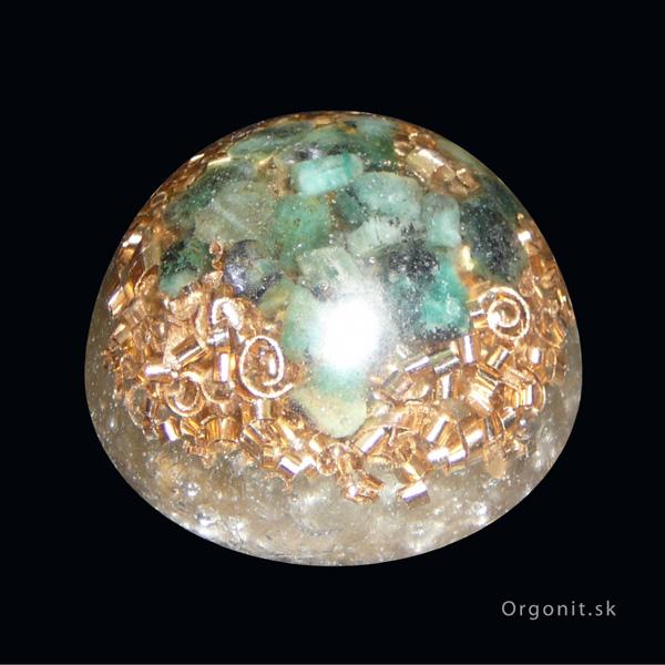 Orgonitová pologuľa - smaragd