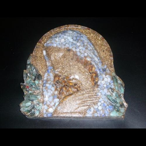 Orgonitová dekorácia Svätá Mária - chalcedón