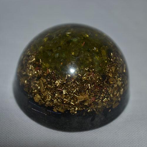 Orgonitová pologuľa - olivín